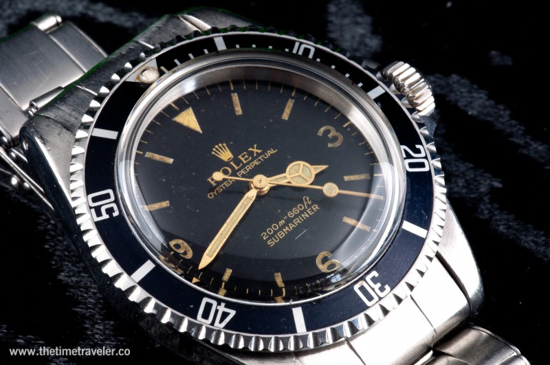 Exceptionally Rare Explorer Dial 3 6 9 Submariner Rolex 5513 Non Date Submariner Watch For Sale